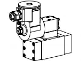 Клапан золотниковый управляемый клапаном с электроуправлением, взрывозащищенный EEx d II C