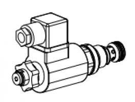 Клапан тарельчатый картриджный с электроуправлением