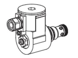 Клапан тарельчатый картриджный с электроуправлением, управляемый, взрывозащищенный EEx d II C