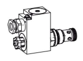 Клапан тарельчатый картриджный с электроуправлением, управляемый, взрывозащищенный Ex d II C