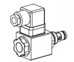 Клапан тарельчатый картриджный с электроуправлением, управляемый