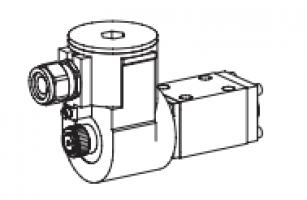 Клапан тарельчатый фланцевый с электроуправлением, взрывозащищенный EEx d II C