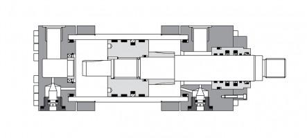 Гидроцилиндры средней серии CH(увеличенный размер) до 400 мм, 250 бар
