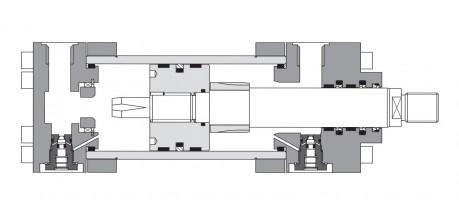 Гидроцилиндры средней серии CN до 200 мм, 250 бар