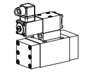Клапан золотниковый управляемый (с электро-, ручным или пневматическим управлением)