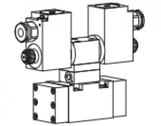 Клапан золотниковый управляемый клапаном с электроуправлением, взрывозащищенный Ex d II C