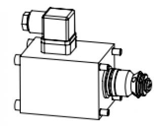 Клапан тарельчатый картриджный с электроуправлением, нормально закрытый