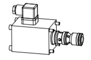 Клапан тарельчатый картриджный с электроуправлением, нормально открытый