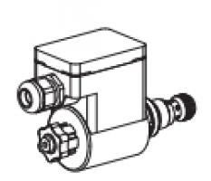 Клапан тарельчатый картриджный с электроуправлением, взрывозащищенный EEx em II