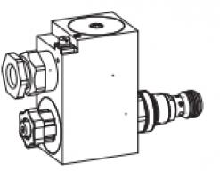 Клапан тарельчатый картриджный с электроуправлением, взрывозащищенный EEx d II C