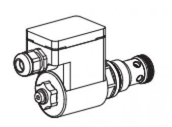 Клапан тарельчатый картриджный с электроуправлением, управляемый, взрывозащищенный EEx em II