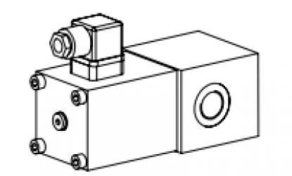 Клапан тарельчатый трубный с электроуправлением