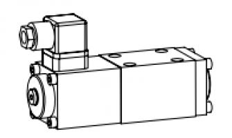 Клапан тарельчатый фланцевый с электроуправлением с позитивным перекрытием при переключениях