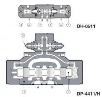 DH-04,-05 DK-14,-15 DP-24,-25 DP-44,-45 DP-64,-65 Клапаны с гидравлическим управлением