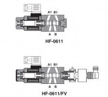 Модульный распределительный клапан с дополнительным предохранительным переключателем положения HF-06