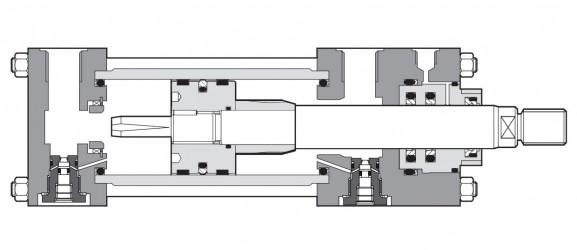 Гидроцилиндры средней серии CK до 200 мм, 250 бар